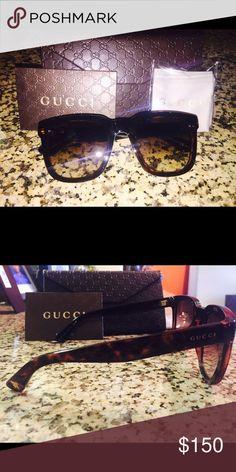 Gucci Sunglasses 2016 Fall Collection, never worn. Gucci Accessories Sunglasses