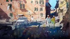 Watercolor Tutorial - How to use the Splattering Technique by Tim Wilmot...