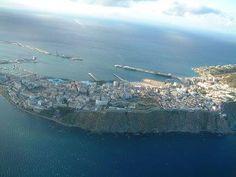 VISTA AEREA Cadiz, Malaga, North West, Morocco, Airplane View, City Photo, Spanish, Coast, Africa