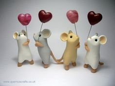 If you need to make mice paste the most interesting ideas, do not miss it. Create a doll clay is one of the most fascinating artifacts. To build Polymer Clay Kunst, Polymer Clay Figures, Cute Polymer Clay, Polymer Clay Animals, Cute Clay, Polymer Clay Miniatures, Fimo Clay, Polymer Clay Projects, Clay Figurine