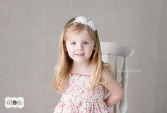 Baby Headband...White Double Shabby Rose by CountryBabyHandmade