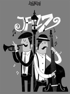 DelightFULL's lamps are knowingly inspired by jazz musicians, and here are the most quintessential albums and how they've inspired these Mid-century lamps. Musik Illustration, Retro Illustration, Jazz Blues, Blues Music, Pop Music, Foto Transfer, Jazz Poster, Images Disney, Jazz Art