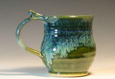 SALE Coffee cup ceramic mug tea small glazed in by hughespottery, $13.00