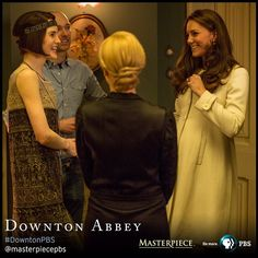 """The Duchess of Cambridge visits the #DowntonPBS set today, in this exclusive MASTERPIECE on @pbsofficial photo! To be a fly on that wall...…"""