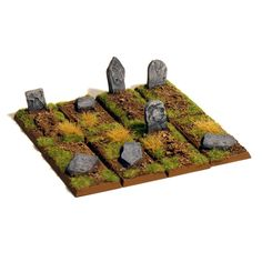 28mm Fantasy Grave/Tombstones for wargames scenery
