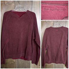 Men's Tommy Bahama Pullover Maroon Sweater Sweatshirt Long Sleeve  | eBay