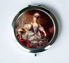Marie Antoinette Compact Mirror Pocket Mirror Posing by che655
