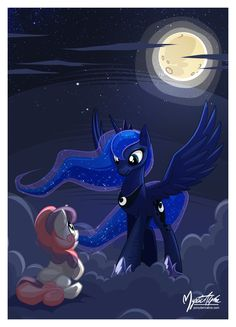 Princess Luna and Sweetie Belle. | Luna the Nightmare Mistress by mysticalpha on deviantART.