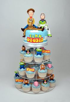 Toy story cupcake tower