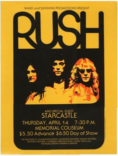 Old Rock Band Posters | the Netherlands sent me a scan of this vintage Rush concert poster ...