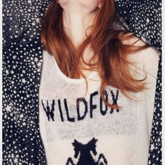 Wildfox white logo COBAIN SWEATER TEE White Label Wildfox Classic Cobain T Knit  in Clean White by Wildfox Couture. 56% Acrylic / 34% Nylon / 10% Wool (super soft) Material is slightly transparent Wildfox knit colour: Clean White Size Medium Wildfox Tops