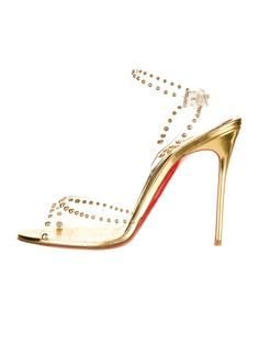 Gold Steps: Christian Louboutin Sandals. (TheRealReal.com)