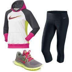 For my workout :) I love love this look!!