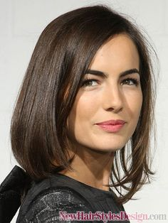 Smooth Medium Bob Hairstyles