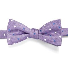 Men's Croft & Barrow® Patterned Pre-Tied Bow Tie, Brt Purple