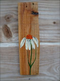 Coneflower painted on recycled pallet wood by flowersnstars, $10.00