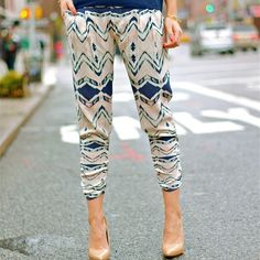 Styled Snapshots in fun printed pants from Nordstrom Rack