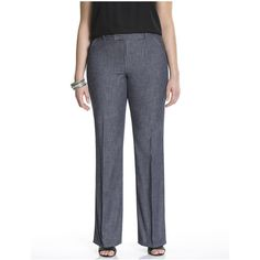 Lane Bryant Plus Size Trouser jean  Size 18, denim blue ($50) ❤ liked on Polyvore featuring denim blue and lane bryant