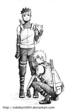 Anbu Kakashi and Yamato