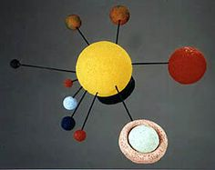 Solar System Model | FaveCrafts.com - a DIY way for kids to learn about the Solar System