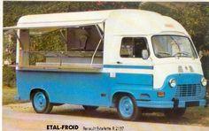 Renault Estafette aménagée en camion-magasin, années 70.