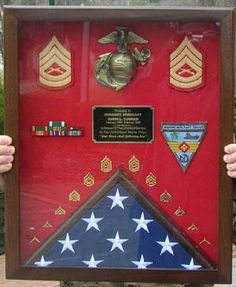 Shadow Boxes,Flag Case,Sword Case,uniform shadow boxes,wooden chevrons and sword holders Usmc, Marines, Military Shadow Box, Military Crafts, Retirement Ideas, Military Photos, Us Army, Wooden Boxes, Picture Frames