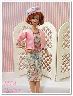SERENITY SUMMER~PINK~Handmade~7pc DRESS SUIT~Silkstone Vtg Barbie~MTA Designs #HandmadebyMTADesigns