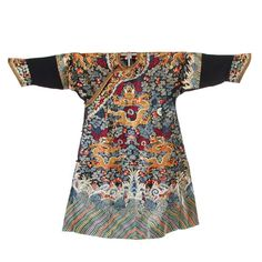 43794d7ac0 372  20th C. Chinese Embroidered 9 Dragon Emperor Robe Traditional Chinese