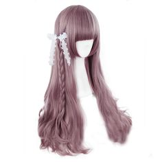 Harajuku Japanese Long Purple Wig