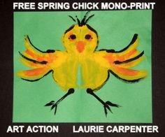 """""""SPRING THINGS"""" EASY-ART MONO-PRINT - TeachersPayTeachers.com A fun, mono-printing experience for the elementary student. FREE lesson plan has projects that are related to the season and environment of spring. It teaches children a basic art skill and exposes them to an understanding of the meaning of symmetry, as it is applied to nature."""