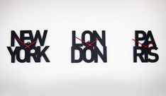 typographic time zone clocks (Goodwin + Goodwin)
