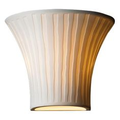 "Limoges Collection Flared Waterfall 6 3/4"" High Wall Sconce"