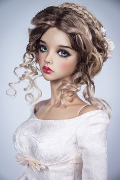 Innocence - Expolore the best and the special ideas about Fashion dolls Beautiful Barbie Dolls, Pretty Dolls, Cute Dolls, Enchanted Doll, Porcelain Dolls Value, Fine Porcelain, Painted Porcelain, Hand Painted, Realistic Dolls