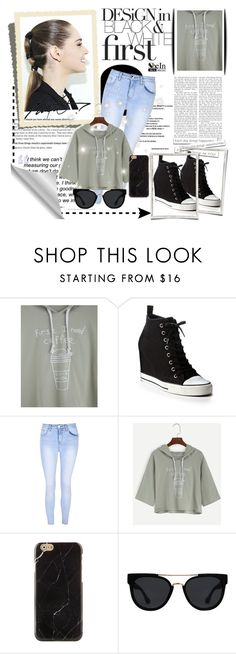"""Hood Day"" by tainted-scars ❤ liked on Polyvore featuring DKNY, Glamorous and Quay"