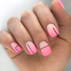 Beautiful nails Bright gradient nails Geometric nails ideas Obmre nails Ombre nails Original nails Pink dress nails Summer nails to the sea Nail Art Design Gallery, Best Nail Art Designs, Nail Polish Designs, Bright Nails, Gradient Nails, Acrylic Nails, Galaxy Nails, Gel Nail, Pink Nail Art