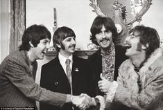 The Beatles in London in 1968, a year after Linda and Paul first met. This was the first y...