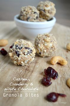 ... of cashew butter, leftover granola, cranberries, and white chocolate