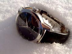 Winter time with the Zeitwinkel Galvanic black Winter Snow, Winter Time, Smart Watch, Black, Smartwatch, Black People
