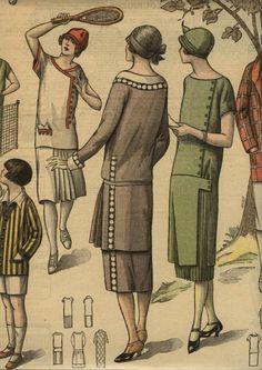1925 day dresses