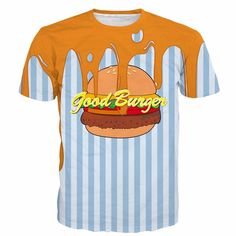 Summer Fashion Blue Stripe Cheese Burger Daily Wear Unique Design T-shirt  #Summer #Fashion #Blue #Stripe #Cheese #Burger #Daily #Wear #Unique #Design #T-shirt #Woofapparel