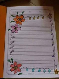 Most Popular Simple Attractive Simple Paper Border Designs Flowers File Decoration Ideas, Page Decoration, Frame Border Design, Page Borders Design, Cover Page For Project, Front Page Design, Notebook Cover Design, Apple Logo Wallpaper Iphone, Simple Borders