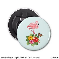 Pink Flamingo & Tropical Hibiscus Fancy Bottle Opener Tropical Style, Diy Stuffed Animals, Pet Gifts, Pink Flamingos, Hibiscus, Art Pieces, Bottle Openers, Fancy, Barware