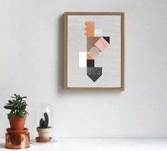 Rose Ombre Composition Artprint by Lissa Thimm Studio made in Denmark on CROWDYHOUSE #walldecor #print #poster