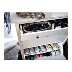 HEMNES Shoe cabinet with 2 compartments - white - IKEA$199