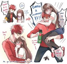 Omg lol I would love to have this kind of  relationship with my boyfriend Mystic Messenger Times, Mystic Messenger Comic, Protective Boyfriend, Couple Drawings, Saeyoung Choi, Messenger Games, Saeran, Jumin Han, Anime Kawaii