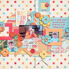 Square Dance from Little Green Frog Designs Little Blossom from Amanda Heimann Designs