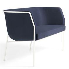 Cajal sofas and armchair by Gunilla Allard balance seats on thin metal frames