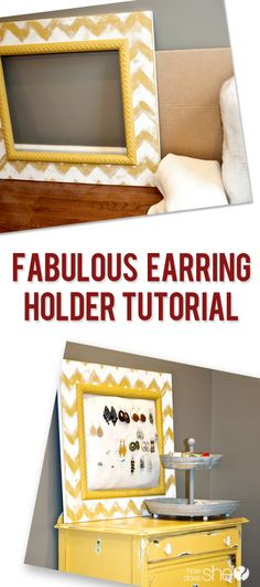 Love this DIY earring holder from How Does She.