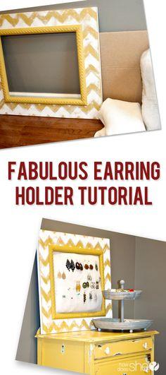 Fabulous Earring Holder Tutorial