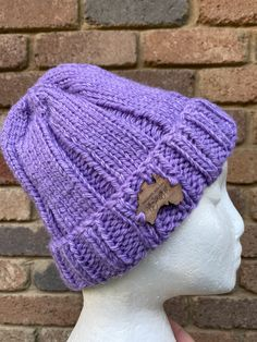Excited to share this item from my #etsy shop: Knitted purple beanie, mens beanie, ladies beanie, purple alpaca beanie, purple beanie, beanie, mens purple beanie, purple pompom beanie Wooden Tags, Etsy Handmade, Hand Knitting, Etsy Seller, Winter Hats, Crochet Hats, Beanie, Etsy Shop, Pure Products